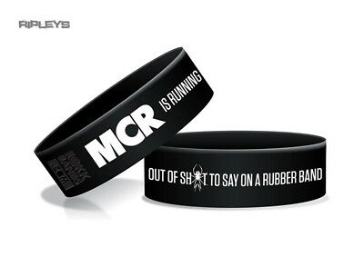 Official MY CHEMICAL ROMANCE Silicone Wristband LOGO Black Gift • 4.50£
