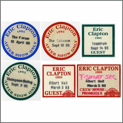 Eric Clapton 1993/1995 Concert Guest And Crew Passes (UK) • 65£