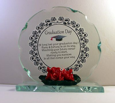 Graduation Day, Cut Glass Round Plaque Limited Edition | Cellini-Plaques  # • 24.99£