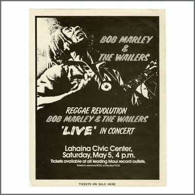 Bob Marley & The Wailers 1979 Hawaii Promotional Flyer (USA) • 440£