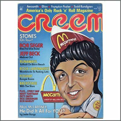 Paul McCartney 1976 Creem Magazine (USA) • 45£
