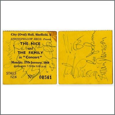 The Nice/Family 1969 Autographed Concert Ticket Stub (UK) • 275£