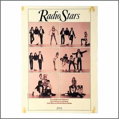Radio Stars 1977 Dirty Pictures Chiswick Records Promotional Poster (UK) • 55£