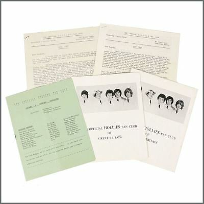 The Hollies 1967-1969 Official Fan Club Newsletters (UK) • 195£