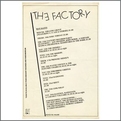 Joy Division 1979 The Factory Royce Road Performance Listings Flyer (UK) • 765£