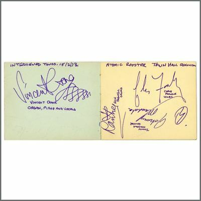 Atomic Rooster 1973 Autographs Reading Town Hall (UK) • 215£