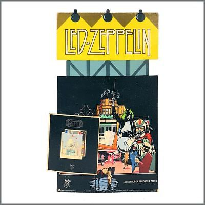 Led Zeppelin 1976 Song Remains The Same Vintage Promo Swan Song Display (USA) • 935£
