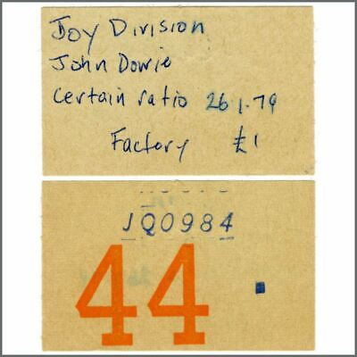 Joy Division 1979 The Factory/Russell Club Manchester Concert Ticket Stub (UK) • 275£