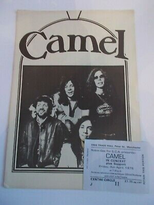 Camel 1976 Concert Programme Uk Tour And Ticket Free Trade Hall • 19.99£
