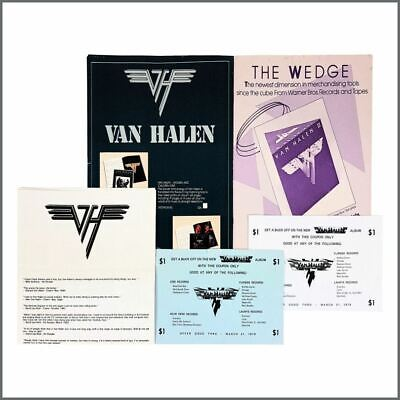 Van Halen 1970s/1980s Merchandising Order Forms & Promotional Flyers (USA) • 165£