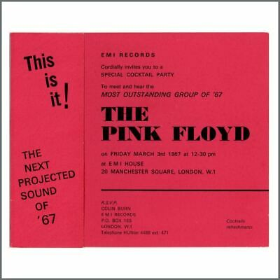 Pink Floyd 1967 Launch Party Invitation (UK) • 1,650£