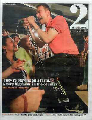 The Times Newspaper Supplement 26 June 2009 . Blur Damon Albarn Front Cover • 7.99£