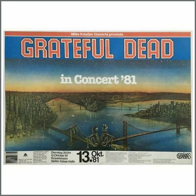 The Grateful Dead 1981 Rüsselsheim Concert Poster (German) • 275£