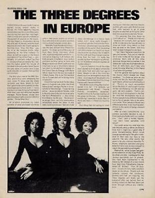 Three Degrees Interview/Article #1 ABC • 11.77£