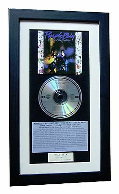 PRINCE Purple Rain CLASSIC CD ALBUM GALLERY QUALITY FRAMED+EXPRESS GLOBAL SHIP • 44.95£