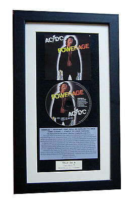 AC/DC Powerage CLASSIC CD Album GALLERY QUALITY FRAMED+EXPRESS GLOBAL SHIPPING • 44.95£
