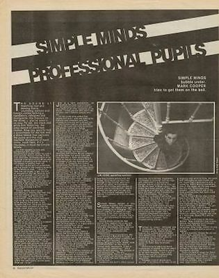 Simple Minds Interview/article 1981 • 11.77£
