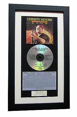 CHRISTY MOORE Live At Point CLASSIC CD Album QUALITY FRAMED+EXPRESS GLOBAL SHIP • 44.95£