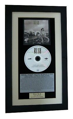 RUSH Permanent Waves CLASSIC CD Album GALLERY QUALITY FRAMED+EXPRESS GLOBAL SHIP • 44.95£