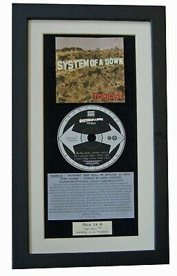 SYSTEM OF DOWN Toxicity CLASSIC Album QUALITY FRAMED!! • 44.95£