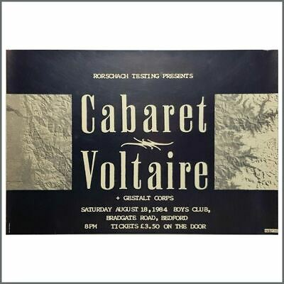 Cabaret Voltaire 1984 Bedford Boys Club Poster (UK) • 137.50£