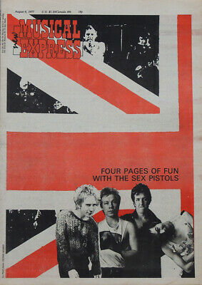 Nme 6 Aug 1977 . Sex Pistols Sid Vicious & Johnny Rotten Front Cover • 49.99£