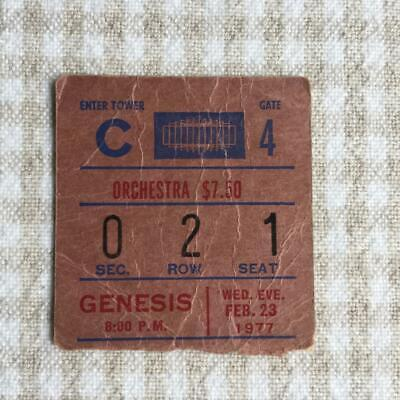 Genesis Ticket Madison Square Gardens 23/02/77 Wind & Wuthering Tour # 2/1 • 20£