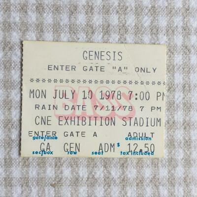 Genesis Ticket CNE Exhibition Stadium Toronto 10/7/78 And Then There Were 3 Tour • 20£