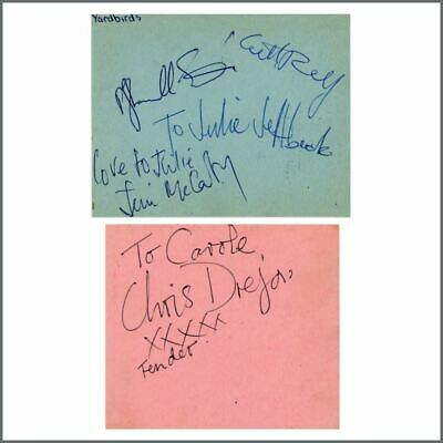The Yardbirds 1965 Jeff Beck Line-up Autographs (UK) • 825£