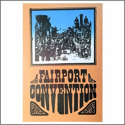 Fairport Convention 1970s Promotional Poster (UK) • 35£