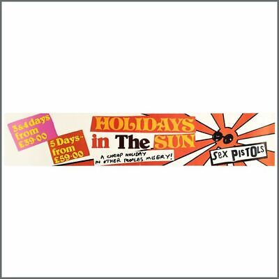 Sex Pistols 1977 Holidays In The Sun Promotional Banner (UK) • 655£