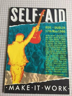 Tour Programme U2 Self Aid Dublin 17/05/86 Rory Gallagher Pogues Costello • 65£
