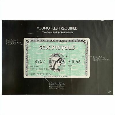 Sex Pistols 79 The Great Rock 'N' Roll Swindle Virgin Records Promo Poster (UK) • 765£