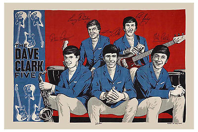 British Invasion: The Dave Clark Five Promotional Tribute Poster From 1964 12x18 • 9.01£
