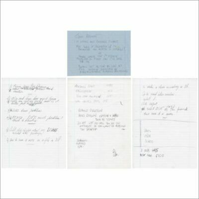 Greg Lake Handwritten Notes • 660£