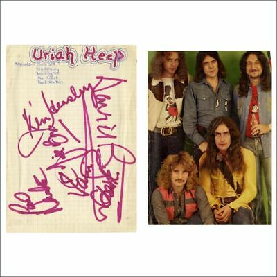 Uriah Heep Early 1970s Autographs (Germany) • 330£