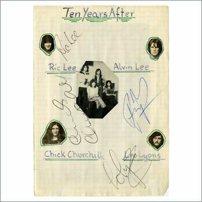 Ten Years After Early 1970s Autographs (Germany) • 275£
