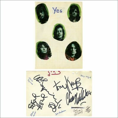 YES Early 1967s Autographs (Germany) • 500£