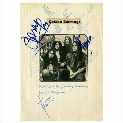 Golden Earring 1970s Autographs (Germany) • 165£