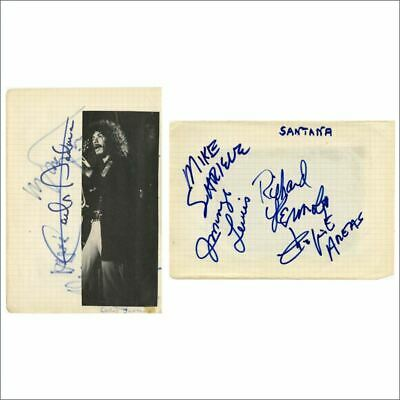 Carlos Santana & Band 1970s Autographs (Germany) • 220£