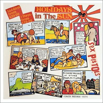 Sex Pistols 1977 Holidays In The Sun Promotional Poster (UK) • 1,095£