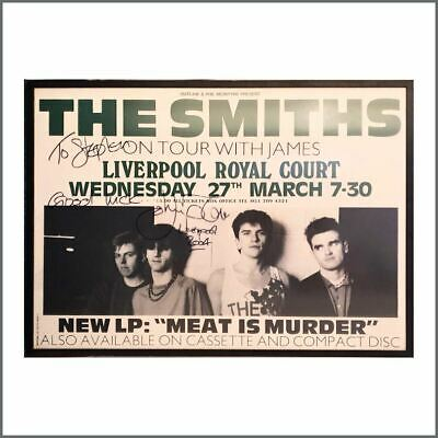 The Smiths 1985 Johnny Marr Autographed Concert Poster (UK) • 1,500£
