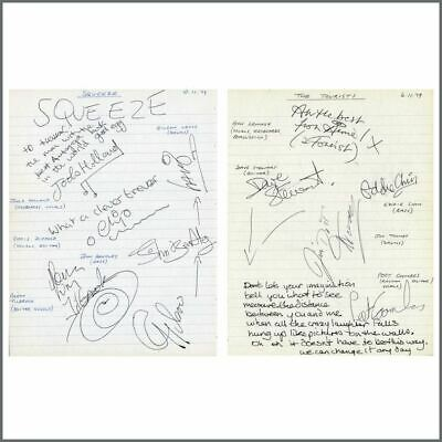 Squeeze / The Tourists 1979 Autographs (UK) • 330£
