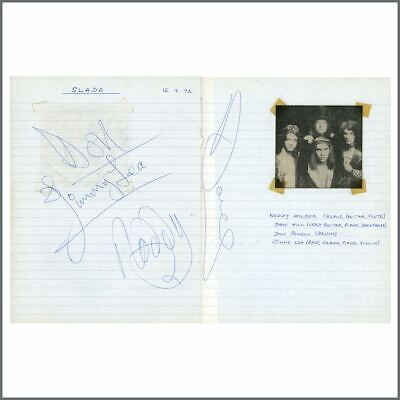 Slade 1972 Torquay Autographs (UK) • 330£