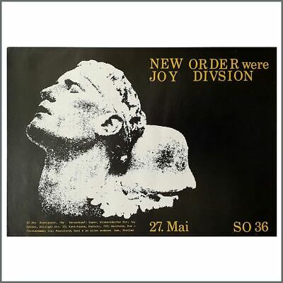 New Order 1981 SO36 Berlin Concert Poster (Germany) • 765£