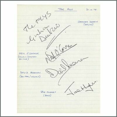 The Flys 1979 Autographs (UK) • 195£