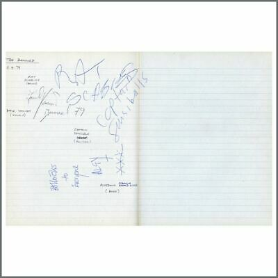 The Damned 1979 Autographs (UK) • 330£