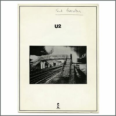 U2 1980 Island Records Promotional Press Kit (USA) • 825£