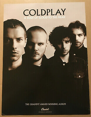 COLDPLAY Rare 2002 PROMO POSTER For Rush Of Blood CD 18x24 USA NEVER DISPLAYED • 27.54£