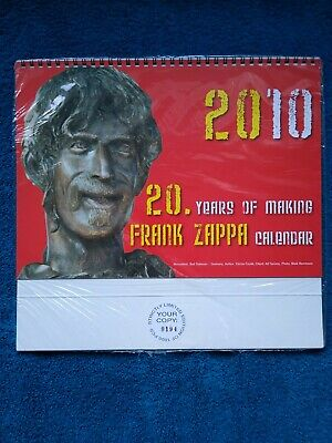 Frank Zappa Calender 2010. Limited Edition 0194 Of 1000. Still In Wrapper. • 49.95£